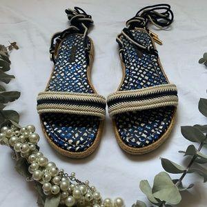 Louis Vuitton Lace-Up Strappy Sandals